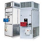 Стационарные теплогенераторы, вертикальные с подключением к вентиляционным каналам