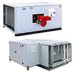 Стационарные теплогенераторы, горизонтальные с подключением к вентиляционным каналам