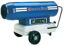 Дизельная тепловая пушка с дымоходом Tecnoclima серии DGK