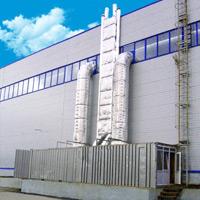 Теплогенераторы установлены вне помещения в стандартных контейнерах
